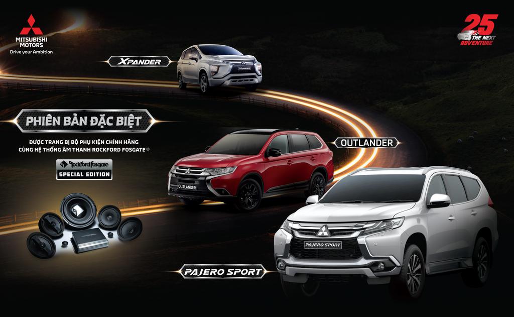 Mitsubishi Hà Tĩnh chính thức nhận đặt hàng phiên bản đặc biệt cho bộ ba Pajero Sport, Outlander và Xpander