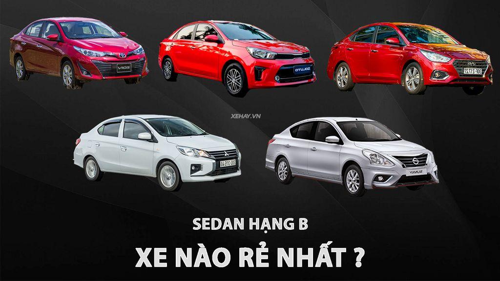 5 mẫu sedan phân khúc B đáng mua nhất tại Hà Tĩnh